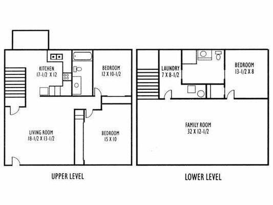 3-Bedroom Urban Floor Plan 1