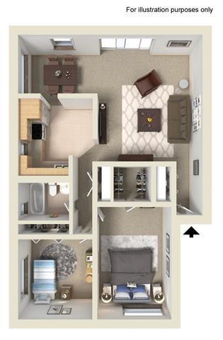2 Bedroom (Glidden) Floor Plan 5