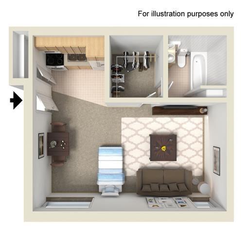 Studio (Gurler) Floor Plan 2