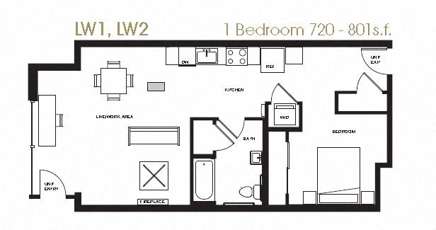 Live/Work 1-2 Floor Plan 16