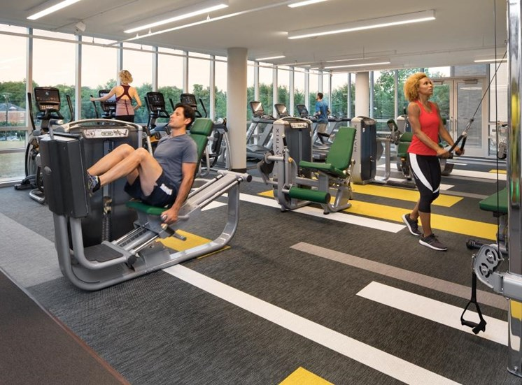 Professional-Grade Fitness Center at The Pearl, Silver Spring