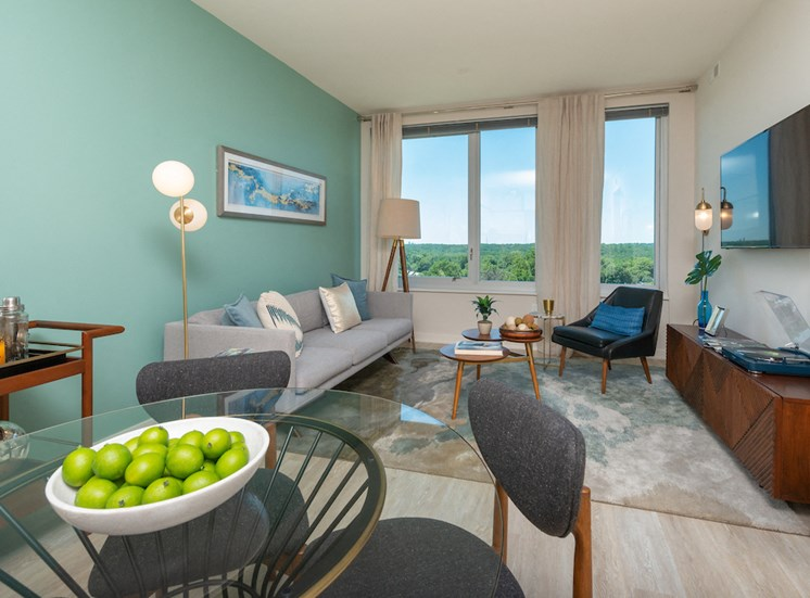 Contemporary Living Room at The Pearl, Silver Spring, MD, 20910