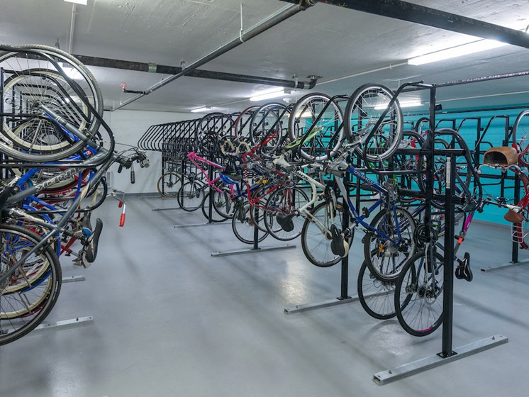 Bike Storage at The Pearl, Silver Spring, Maryland