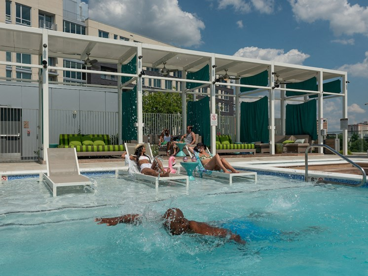 Poolside Sundeck at The Pearl, Maryland