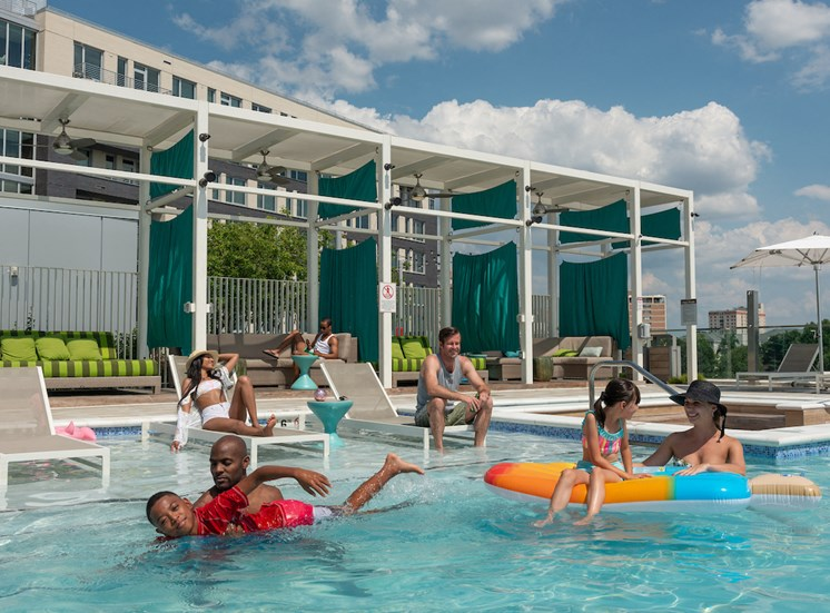 Swimming Pool with Lounge Chairs at The Pearl, Maryland, 20910