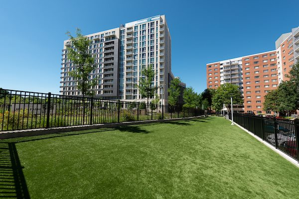 Beautifully Landscaped Grounds at The Pearl, Silver Spring, MD