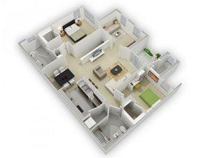 The Dawson Floorplan at Algonquin Square Apartment Homes, Algonquin, IL 60102