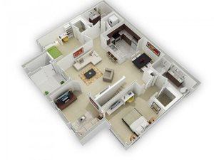 The Plumleigh Floorplan at Algonquin Square Apartment Homes, Algonquin, IL 60102