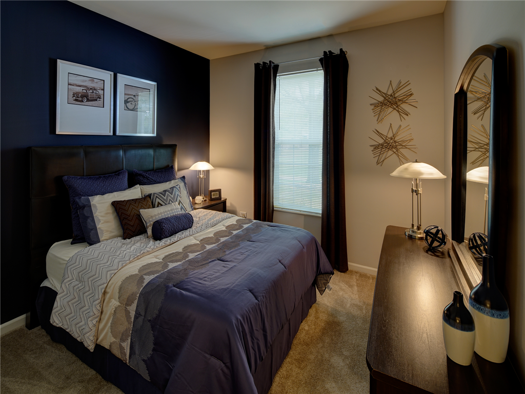 Spacious Bedrooms at HighPoint Community Apartments, Romeoville, IL, 60446