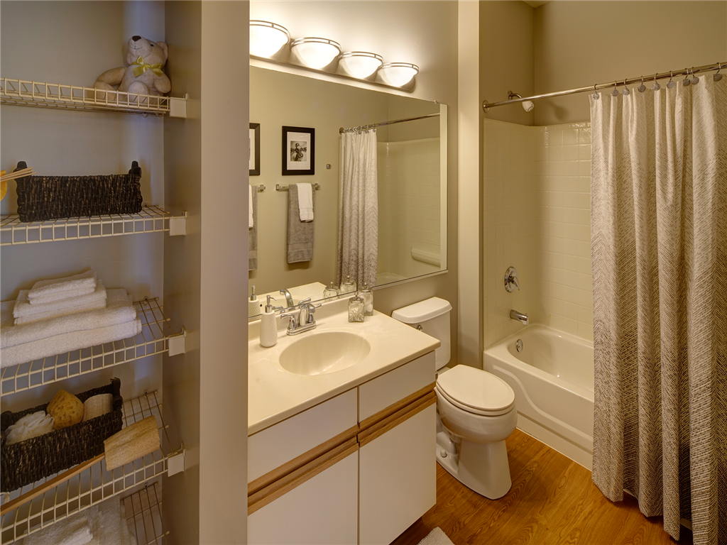 Linen Closet with Shelving at HighPoint Community Apartments, Romeoville, IL, 60446
