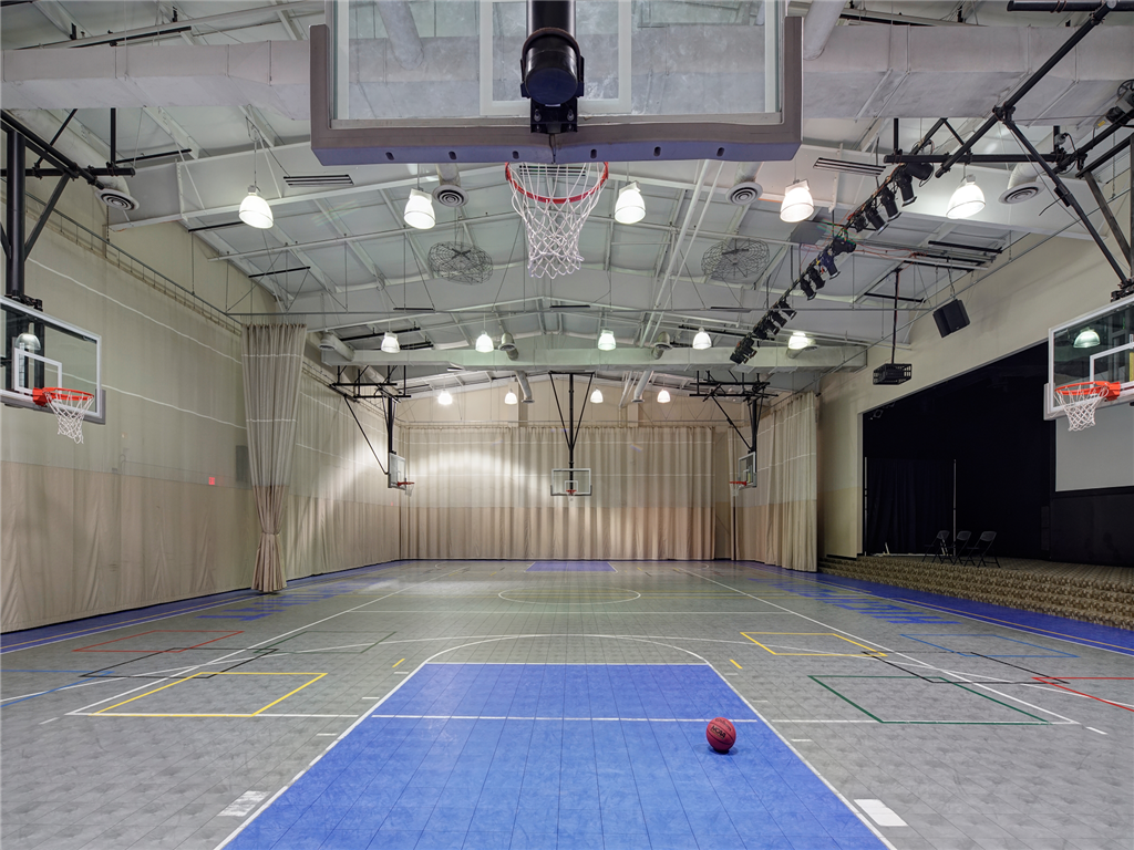 Full Size Indoor Basketball Court at HighPoint Community Apartments, Romeoville, IL, 60446