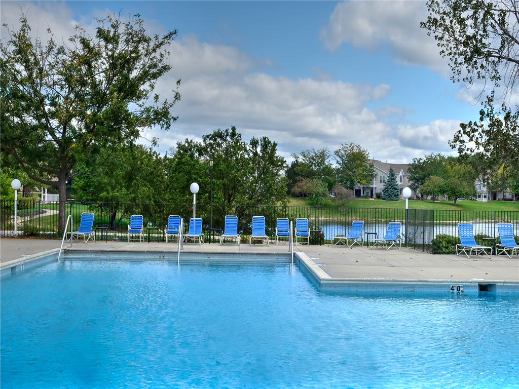 Pool Side Relaxing Area at HighPoint Community Apartments, Romeoville, IL, 60446