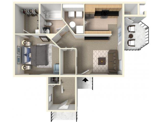Maple 1 Floorplan at HighPoint Community Apartments, Romeoville, IL, 60446