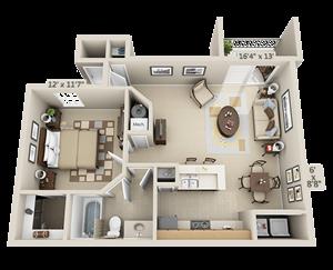 1 Bedroom - Dogwood