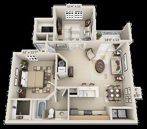 1 Bedroom - Evergreen