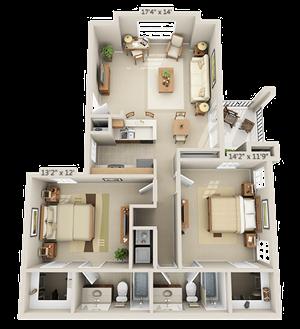 2 Bedroom - Aspen