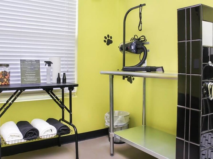 Brand new dog wash and grooming station at Hunter's Ridge Apartments in Oakville, MO.
