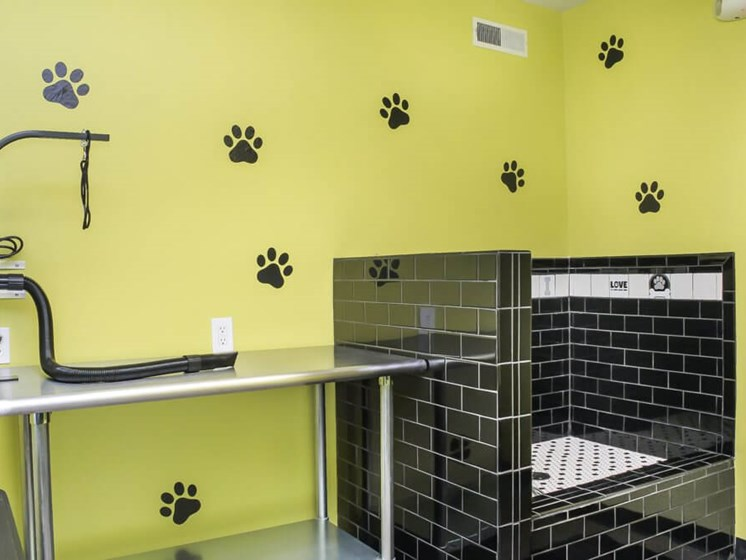 Brand new dog wash and grooming at Hunter's Ridge Apartments in Oakville, MO.