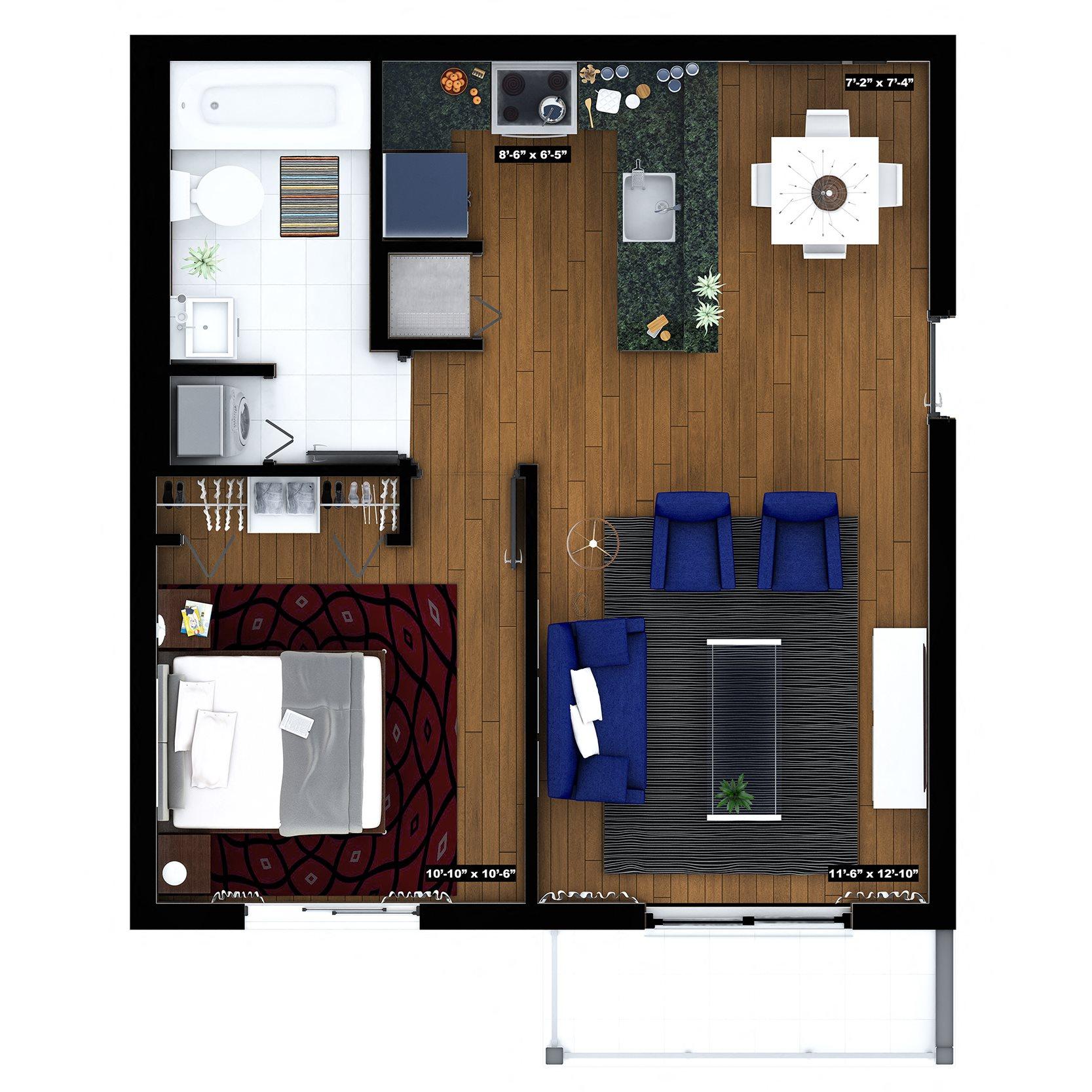 Key West Floor Plan 1
