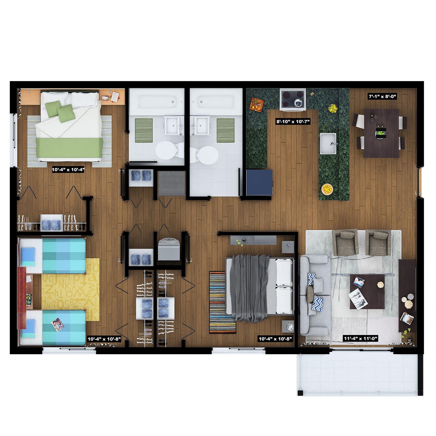 Key Largo Floor Plan 3