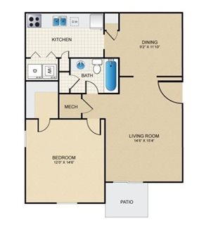 1 Bed 1 Bath - Renovated