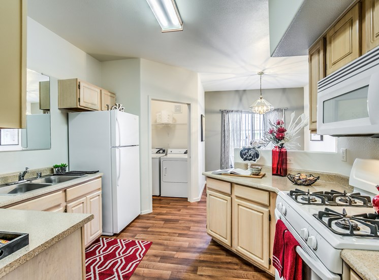 All Electric Kitchen at Calypso Apartments