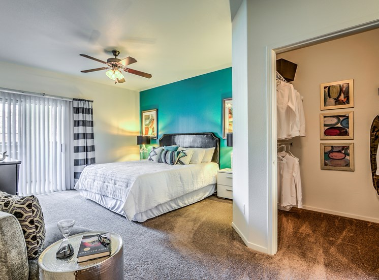 Spacious Carpeted Bedrooms That Accommodate King Size Bedsat Calypso Apartments
