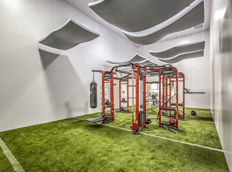 Fitness Center with updated equipment at Calypso Apartments