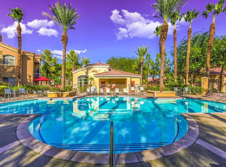 Pool Side Relaxing Area at Calypso Apartments
