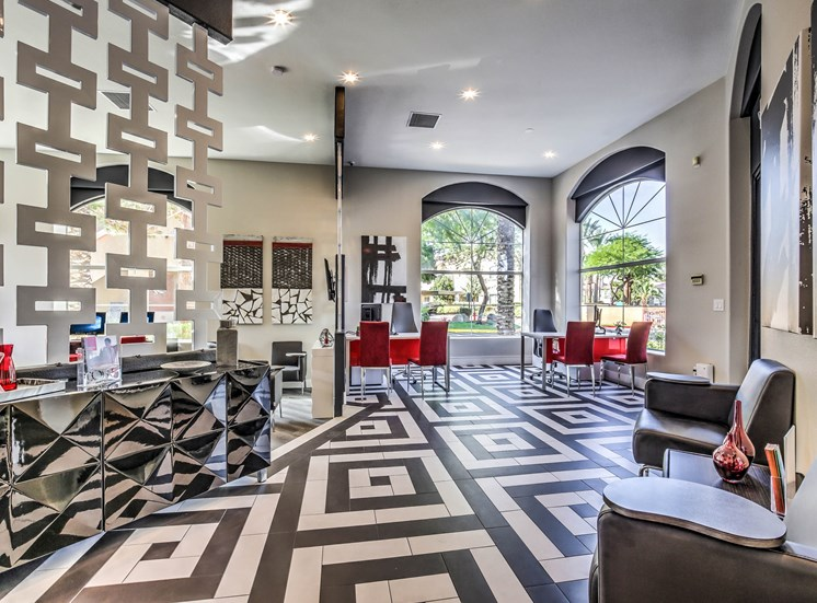 Lavish Resident Clubhouse at Calypso Apartments