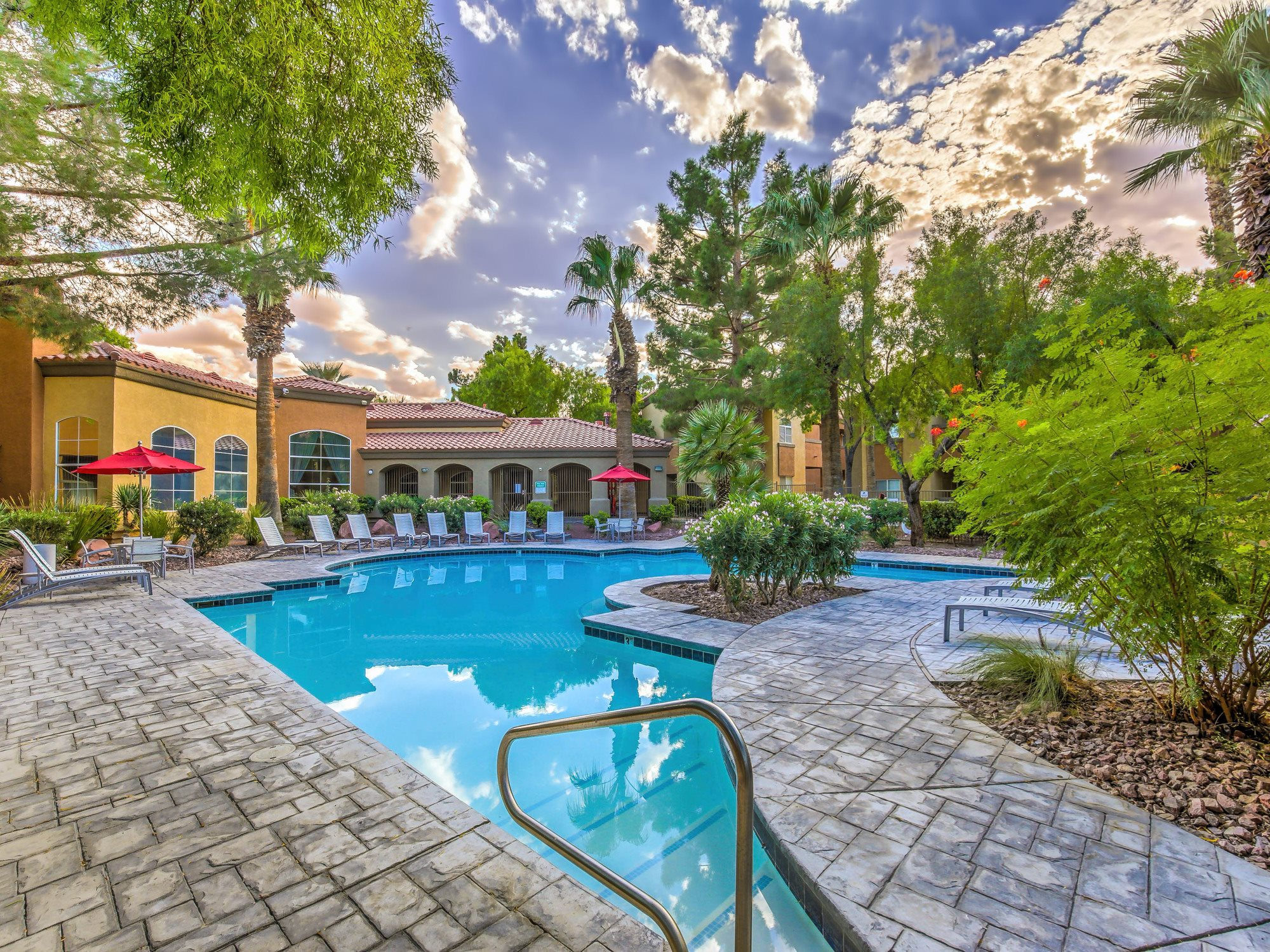Resort-Style Zero-Entry Pool at Collage Apartments, Las Vegas, NV 89108