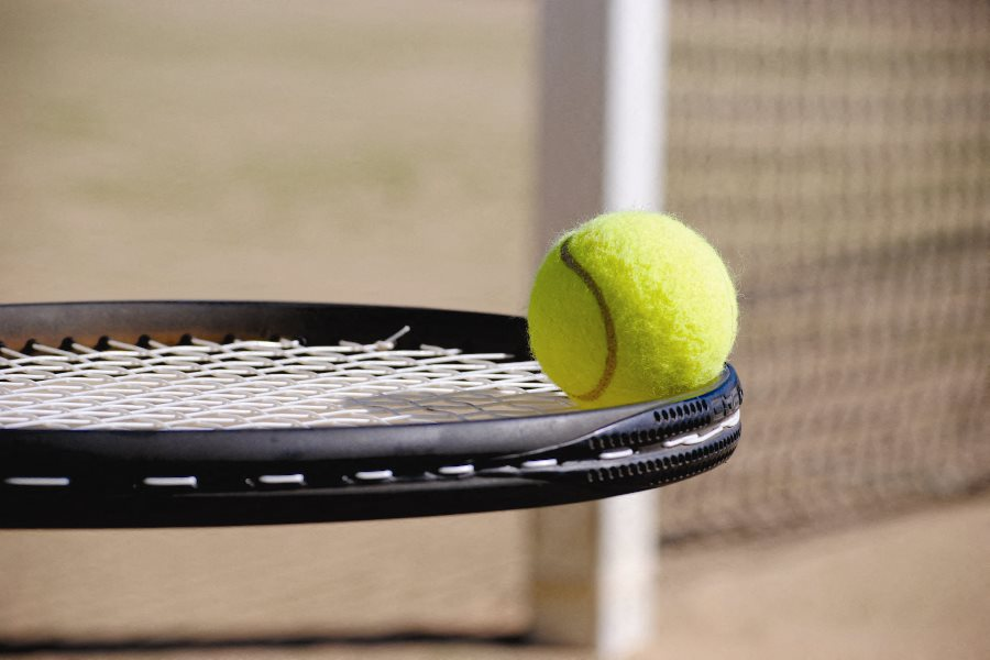 close up tennis racket and tennis ball