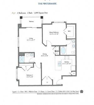 Floor Plan at Watermark Apartments, Norfolk, VA