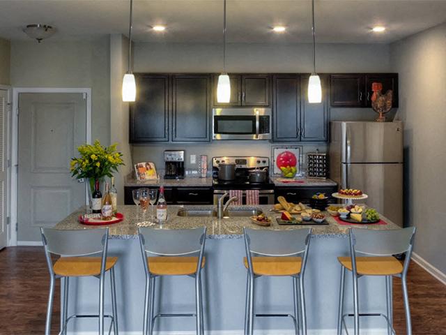 Spacious Kitchen At Watermark Apartments In Norfolk, VA