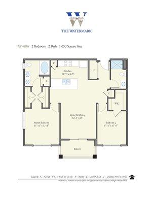 Floor Plan at Watermark Apartments, Norfolk