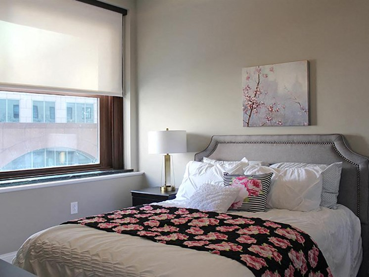 Beautiful Bright Bedroom With Wide Windows at Residences at Leader, Ohio