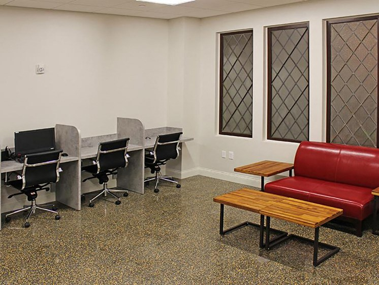 Business Center With Computers at Residences at Leader, Ohio, 44114