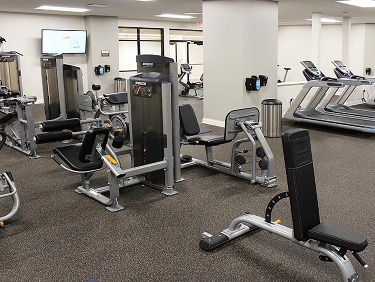 Building Amenities - Fitness Center at Residences at Leader, Cleveland, 44114