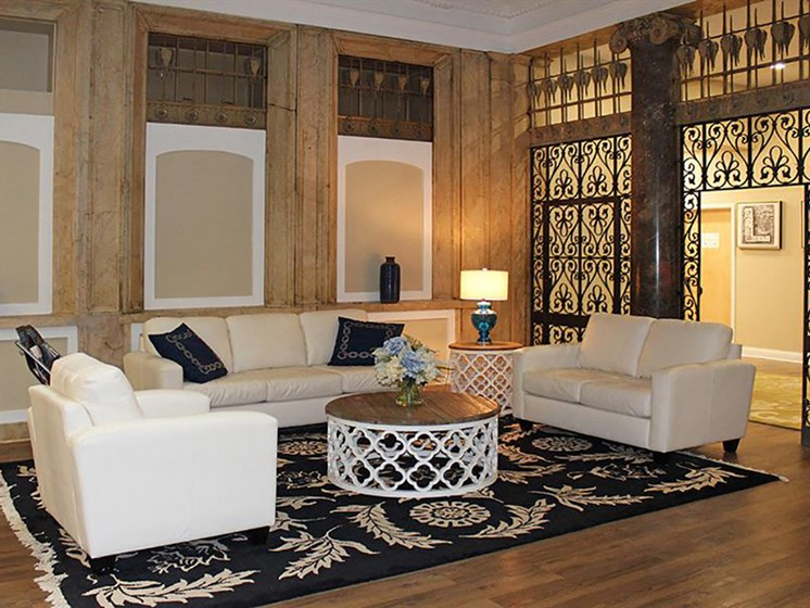 Posh Lounge Area In Clubhouse at Residences at Leader, Cleveland, OH