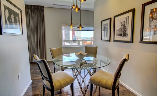 Downtown Dallas Penthouse Dining