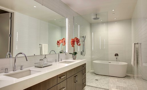 Downtown Dallas Penthouse Bathroom