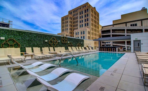 Downtown Dallas, Texas Resort Style Pool