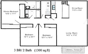3 Bed 2 Bath
