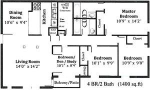 4 Bed 2 Bath