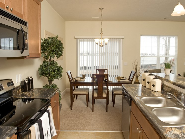 Spacious Kitchen at Long Pond Shores Waterfront Apartments, Rochester, NY