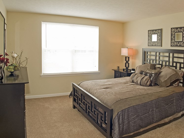 Master Bedroom at Long Pond Shores Waterfront Apartments, Rochester, NY