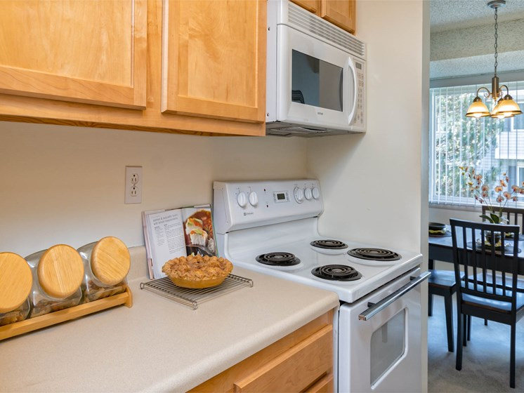 Kitchen With Counterspace at Long Pond Shores Waterfront Apartments, Rochester, NY
