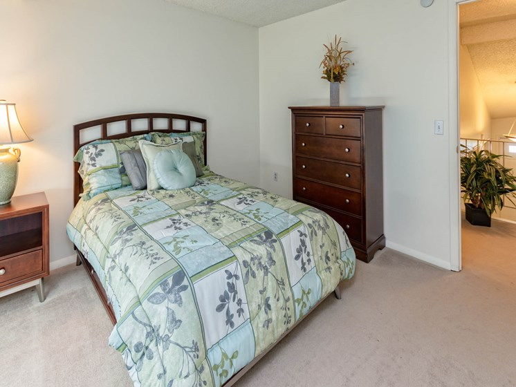 Bright Bedroom at Long Pond Shores Waterfront Apartments, Rochester, NY