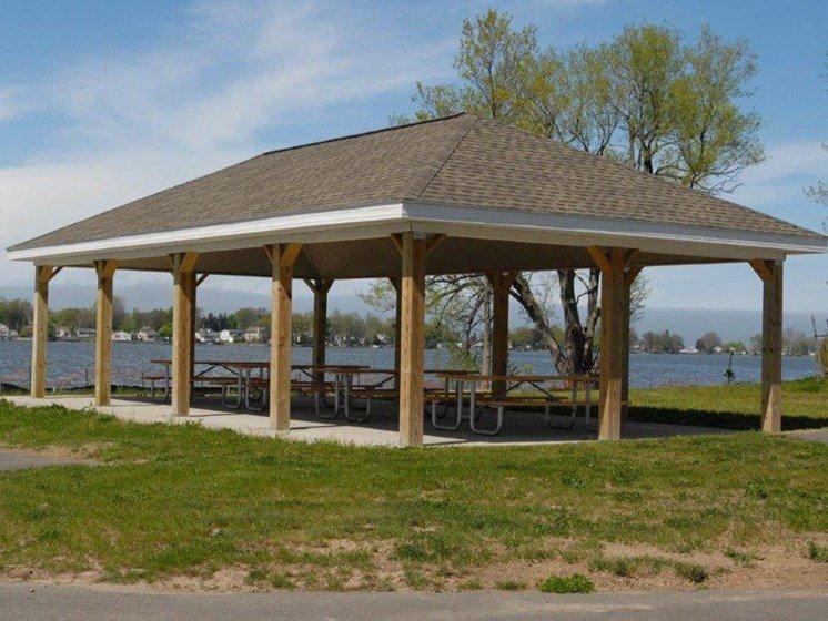 Gazebo on the Water at Long Pond Shores Waterfront Apartments, Rochester, NY