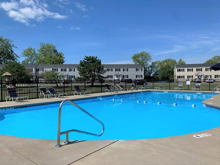Outdoor Swimming Pool at Long Pond Shores Waterfront Apartments, Rochester, NY